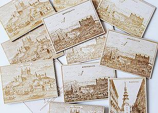 """Papiernictvo - Drevené pohľadnice """"Bratislava"""" - 9900826_"""