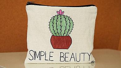 Taštičky - Ľanová nie len kozmetická taštička- Simple beauty - 9900768_