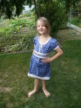 Šaty - Modré detské šaty - 9899006_