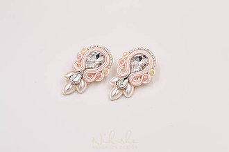 Sady šperkov - Svadobné soutache náušnice - 9900665_