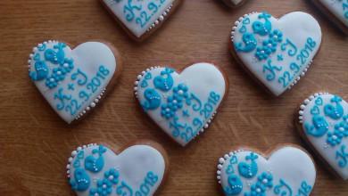 Darčeky pre svadobčanov - Svadobné bielo modré - 9901733_