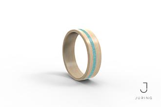 Prstene - Drevený prsteň JURING Javor & Tyrkys - 9900262_