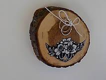 Prstene - Maľovaný vankúšik - 9904059_