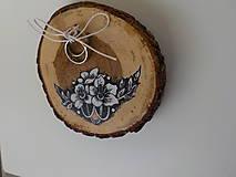 Prstene - Maľovaný vankúšik - 9904064_