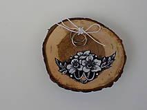 Prstene - Maľovaný vankúšik - 9904065_
