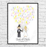 Darčeky pre svadobčanov - Svadobný obraz - postavičky 2 - 9905022_