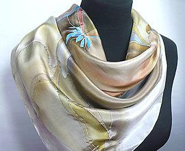 Šatky - Jeseň. Hedvábný šátek. - 9904374_