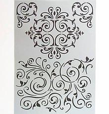 Pomôcky/Nástroje - Šablóna Stamperia - 20x30 cm - ornament, vlnovky, vlnky - 9902583_