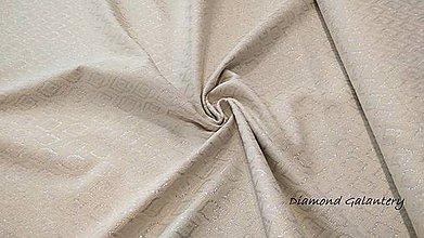 Textil - Látka pretkávaná lurexovou niťou - ornament striebro - cena za 10 cm - 9904891_