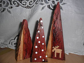 Dekorácie - Vianočné stromčeky- sada. - 9902510_