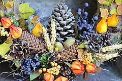 Dekorácie - Jesenný maxi veniec - 9902461_