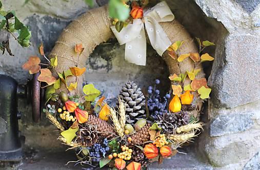 Jesenný maxi veniec