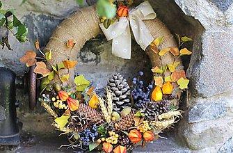 Dekorácie - Jesenný maxi veniec - 9902460_
