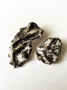 Náušnice - veľké fľakaté /keramika/ - 9904019_