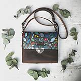 Kabelky - Kožená kabelka (ručne maľovaná Jesenná) - 9904394_
