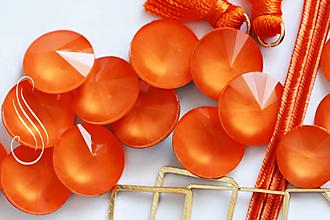 Komponenty - kabošon Pastel RIVOLI 14mm/ 1ks (pomarančová) - 9904481_