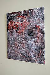 Obrazy - J&M /abstraktná maľba na plátne - akryl a sprej/ - 9904937_