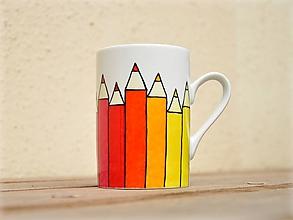 Nádoby - Maľovaný hrnček - Farbičky - 9903675_