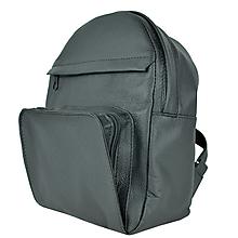 Batohy - Kožený batoh z prírodnej kože v čiernej farbe - 9904092_