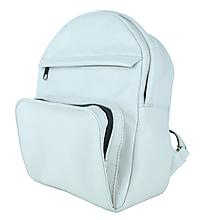 Batohy - Kožený batoh z prírodnej kože v perlovej farbe - 9904245_