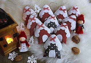 Dekorácie - Vianočné ozdoby...domčeky.. - 9903550_