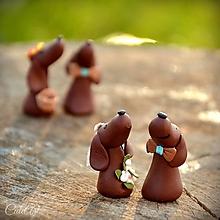 Darčeky pre svadobčanov - Írsky seter - menovky/darčeky na svadobný stôl - 9902906_