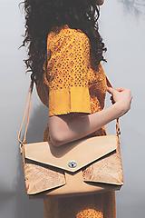 Kabelky - Kožená kabelka Veľká RIBBON botanic (reálna papraď) - 9903200_