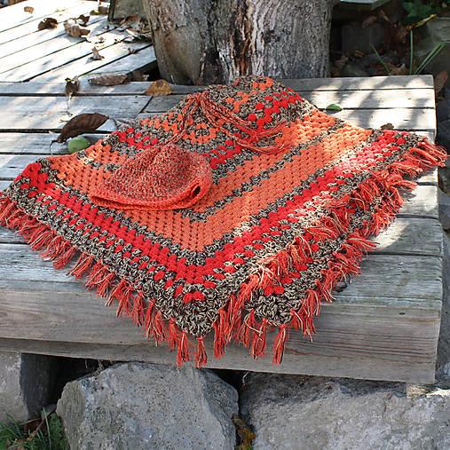e772edefd0bd Veselé jesenné pončo   blanket - SAShE.sk - Handmade Svetre Pulóvre