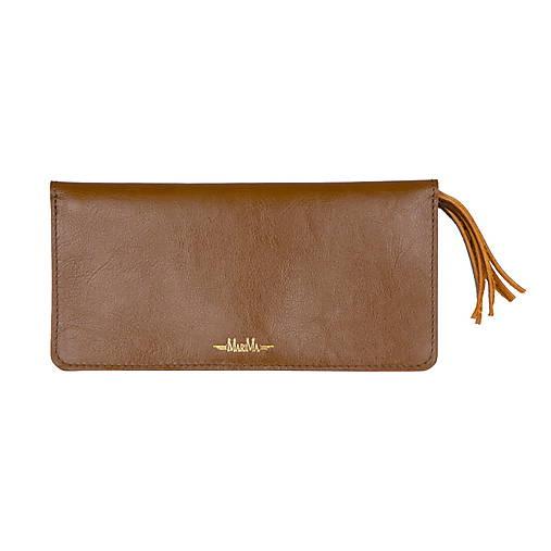 Dámska kožená peňaženka veľká MARIMA  (Whiskey hnedá)