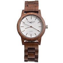 Náramky - Drevené hnedé hodinky Max - 9902313_