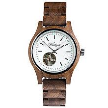 Náramky - Automatické dámske drevené hodinky GAMSKAR - 9903326_