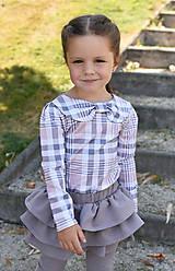 Detské oblečenie - Turbanový nátelník KARO - 9903294_