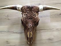 Dekorácie - býk - lebka - 9902221_
