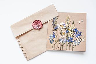 """Papiernictvo - Bylinková pohľadnica """" full floral"""" - 9904381_"""