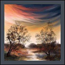 Obrazy - Západ slnka u nás - 9904370_