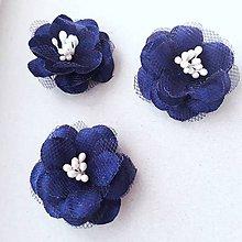 Ozdoby do vlasov - Ružičky do vlasov (Modrá) - 9904539_