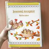 Papiernictvo - Jesenný receptár - puntíky - 9904170_