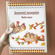 Papiernictvo - Jesenný receptár - káro - 9903663_