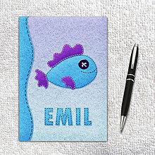 """Papiernictvo - """"Plstené"""" ryby - zápisníky (3) - 9904715_"""