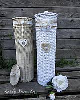 Košíky - Zásobník ns toaletný papier. (Biela) - 9905219_