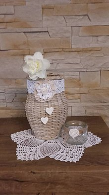 Dekorácie - Váza (Biela) - 9905229_