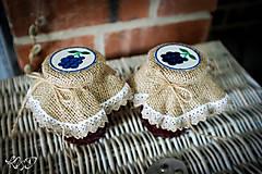 """Nádoby - Vintage """"klobúčiky"""" na lekvár alebo zaváraninu - 9906025_"""