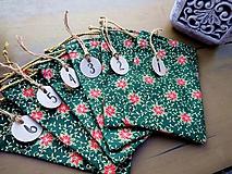 Úžitkový textil - Adventný kalendár - vrecúška (Zelená) - 9905060_