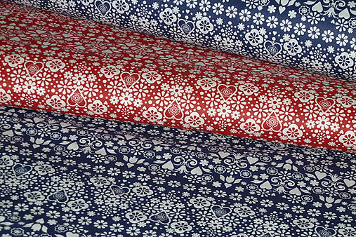 62a33357f Látka Drobný folklór (Červená) / SlovAB - SAShE.sk - Handmade Textil