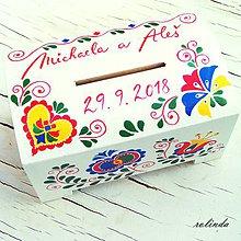 Krabičky - Malovaná pokladnička - 9905338_
