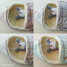 Textil - RUNO SHOP fusak pre deti do kočíka 100% ovčie runo MERINO TOP super wash ELEGANT Rainbow Dúha - 9906744_