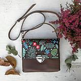 Kabelky - Kožená kabelka (ručne maľovaná Jesenná 2) - 9905259_