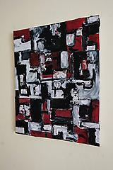 Obrazy - cenzúra /abstraktná maľba na plátne - kombinovaná technika/ - 9906861_