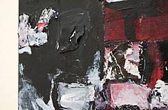 Obrazy - cenzúra /abstraktná maľba na plátne - kombinovaná technika/ - 9906864_