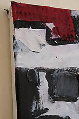Obrazy - cenzúra /abstraktná maľba na plátne - kombinovaná technika/ - 9906865_